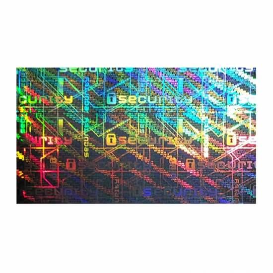 Varnostni hologram z demetalizacijo
