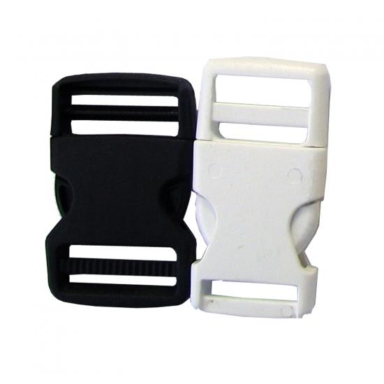 Črna in bela PVC sponka