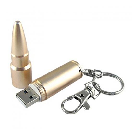 Metalni USB ključek v obliki metka