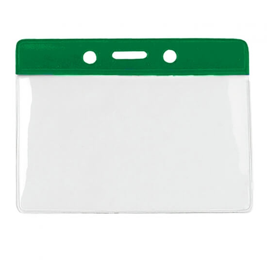 Ležeči mehki ovitek za kartico - zelen