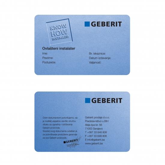 Primer identifikacijske izkaznice za zaposlene - Geberit