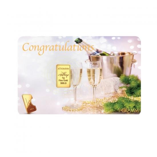 Promocijske kartice z zlatom