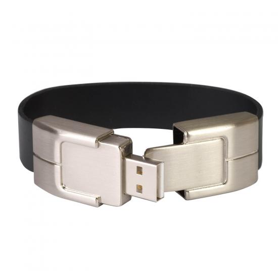 Usnjena USB zapestnica