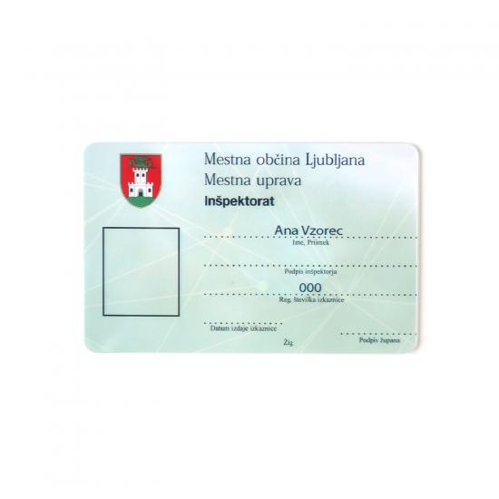 Vzorec identifikacijske kartice za MOL